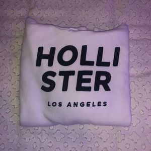 white Hollister hoodie